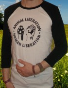 ANIMAL LIBERATION - HUMAN LIBERATION  ( Fairtrade ) - 3/4 Sleeve