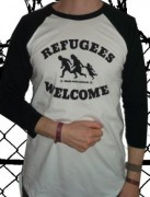 REFUGEES WELCOME ( Fairtrade ) - 3/4 Sleeve