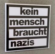 Kein Mensch braucht Nazis - Flächenmagnet