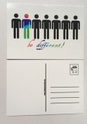 Postkarte be different