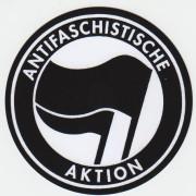 Antifaschistische Aktion -schwarz-  PVC-Aufkleber