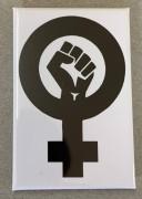 Feminist Fist (weiß) - Flächenmagnet