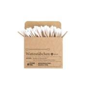 Wattestäbchen aus Bambus & Bio-Baumwolle – 100 Stück