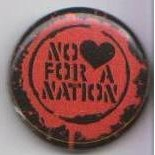 NO LOVE FOR A NATION - schwarz/rot-