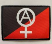 Aufnäher Anarchie - Feminismus schwarz/rot