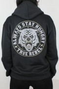 True Rebel Hoodie Stay Hungry Black