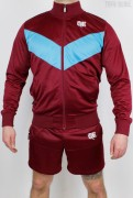 True Rebel Tracksuit Kombi Arrow Burgundy Blue