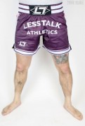 Less Talk Athletics Shorts Muay Thai Aubergine