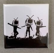 Banksy TV heads - Flächenmagnet