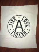 LIVE LOVE REVOLT -weiß- Backpatch