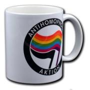 Tasse Keramik Antihomophobe Aktion