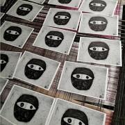 Maske Postkarte