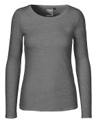 Long Sleeve klein/tailliert - Dark Heather