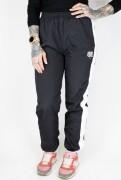 True Rebel Ladies Crinkle Pants Black
