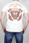 True Rebel T-Shirt Bear Ecru