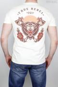 True Rebel T-Shirt Bear Ecru