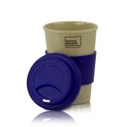 Kaffeebecher to go aus Reishülsen, 400ml