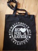 Schwarze Socke -No Love for a Nation - Beutel -