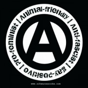 Animal-Friendly, Anti-Fascist, Gay-Positive, Pro-Feminist (30 Stück)