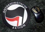 Mousepad: Antifaschistische Aktion (Schwarz/Rot)
