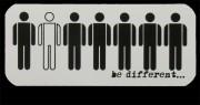 BE DIFFERENT... - PVC-Aufkleber