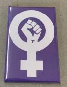 Feminist Fist (lila) - Flächenmagnet