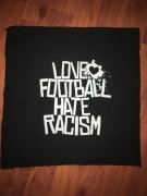 LOVE FOOTBALL HATE FASCISM - Backpatch -NEU