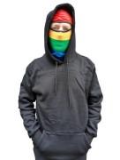 Ninja-Hoodie Regenbogenhaube