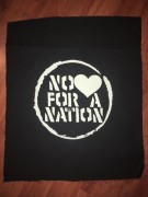 NO LOVE FOR A NATION - Backpatch