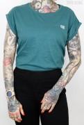 True Rebel Shirt Extended Shoulder Teal