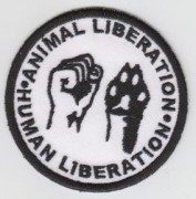 Animal liberation - human liberation -gestickt