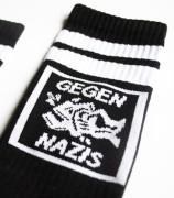 Tennissocken - Gegen Nazis - black