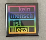 Kein Mensch ist Illegal (bunt) - Flächenmagnet