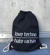 love techno hate racism (Farbe: schwarz)