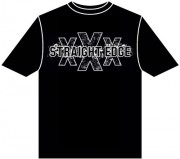 T-Shirt Straight Edge XXX