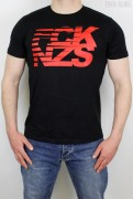 True Rebel T-Shirt Stripes Black Red