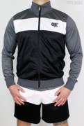 True Rebel Tracksuit Kombi Colour Block Charcoal