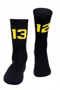 Sixblox Socks 1312 Black Yellow