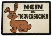 Nein zu Tierversuchen - Hase