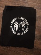 Animal Liberation- schwarz- Backpatch