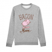 Bacon had a mom - Pullover (Rundhalsausschnitt) - medium fit