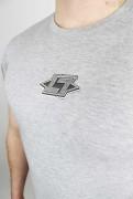 Less Talk T-Shirt Bareknuckle Greetings Grey
