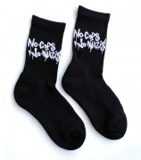 Tennissocken - No Cops No Nazis - black