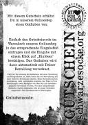Gedruckter Gutschein per Post