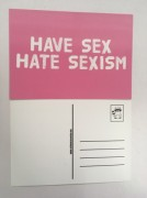 Postkarte have sex hate sexism