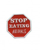 Stop Eating Animals (rot/weiß)