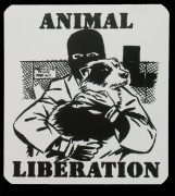 ANIMAL LIBERATION Hund- PVC-Aufkleber