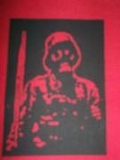 Soldat mit Gasmaske