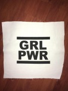 GRL PWR Backpatch weiß