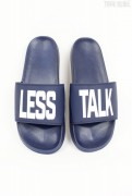 Less Talk Badelatschen Navy White